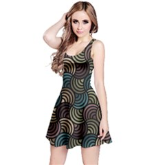 Glowing Abstract Reversible Sleeveless Dress by FunkyPatterns