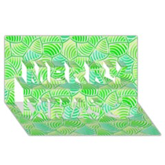 Green Glowing Merry Xmas 3d Greeting Card (8x4)  by FunkyPatterns