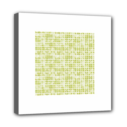 Pastel Green Mini Canvas 8  X 8  by FunkyPatterns