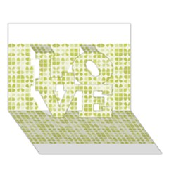 Pastel Green Love 3d Greeting Card (7x5)  by FunkyPatterns