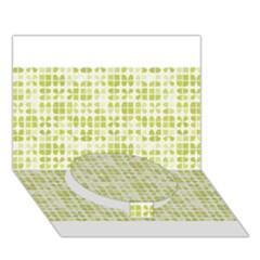 Pastel Green Circle Bottom 3d Greeting Card (7x5)  by FunkyPatterns