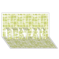 Pastel Green Best Sis 3d Greeting Card (8x4)  by FunkyPatterns