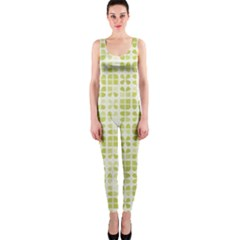 Pastel Green Onepiece Catsuit by FunkyPatterns