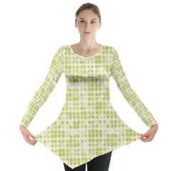 Pastel Green Long Sleeve Tunic  by FunkyPatterns