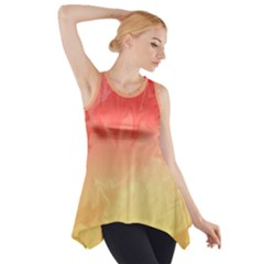 Ombre Orange Yellow Side Drop Tank Tunic by BrightVibesDesign