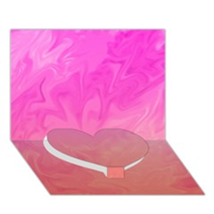Ombre Pink Orange Heart Bottom 3d Greeting Card (7x5)  by BrightVibesDesign