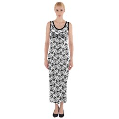 Joshua Tree Patter Fitted Maxi Dress by JoshuaTreeClothingCo
