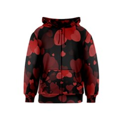 Red Hearts Kids  Zipper Hoodie by TRENDYcouture
