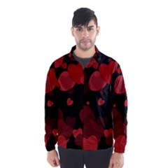 Red Hearts Wind Breaker (Men) by TRENDYcouture