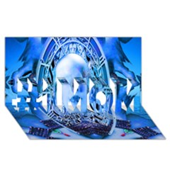 Clockwork Blue #1 Mom 3d Greeting Cards (8x4)  by icarusismartdesigns