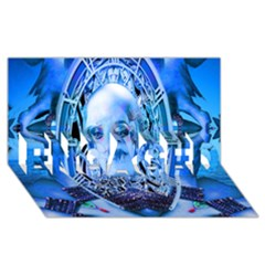 Clockwork Blue Engaged 3d Greeting Card (8x4)  by icarusismartdesigns