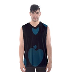 Teal Hearts Men s Basketball Tank Top by TRENDYcouture
