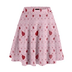 Heart Squares High Waist Skirt by TRENDYcouture