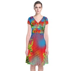 Tiling Lines 5 Wrap Dress by NotJustshirts