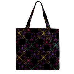 Ornate Boho Patchwork Zipper Grocery Tote Bag by dflcprints