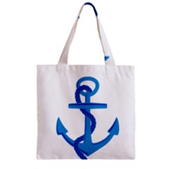blue anchor Zipper Grocery Tote Bag by TRENDYcouture