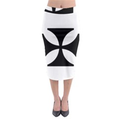 Cross Midi Pencil Skirt by TRENDYcouture