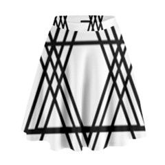 Triangles High Waist Skirt by TRENDYcouture