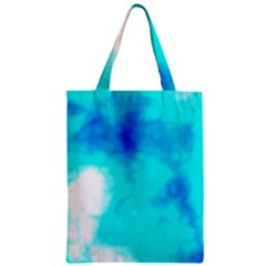 Turquoise Sky  Zipper Classic Tote Bag by TRENDYcouture
