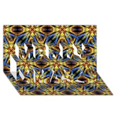 Vibrant Medieval Check Merry Xmas 3d Greeting Card (8x4)  by dflcprints