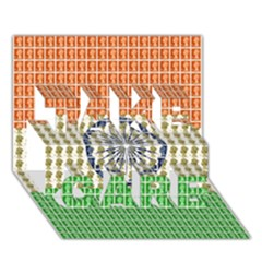 Indian Flag TAKE CARE 3D Greeting Card (7x5)  by cocksoupart