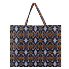 Stones Pattern Zipper Large Tote Bag by Costasonlineshop