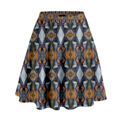 Stones Pattern High Waist Skirt by Costasonlineshop