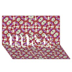Boho Check HUGS 3D Greeting Card (8x4)  by dflcprints