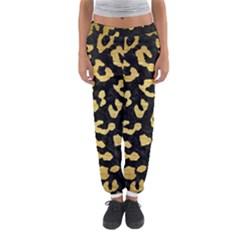 Skin5 Black Marble & Gold Brushed Metal (r) Women s Jogger Sweatpants