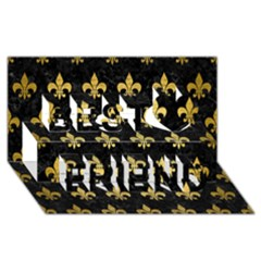 Royal1 Black Marble & Gold Brushed Metal (r) Best Friends 3d Greeting Card (8x4) by trendistuff