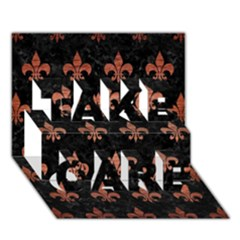 Royal1 Black Marble & Copper Brushed Metal (r) Take Care 3d Greeting Card (7x5) by trendistuff