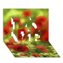 Poppy Vi Love 3d Greeting Card (7x5)  by colorfulartwork