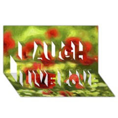 Poppy Vi Laugh Live Love 3d Greeting Card (8x4)  by colorfulartwork