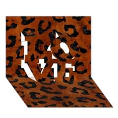 Skin5 Black Marble & Brown Burl Wood Love 3d Greeting Card (7x5) by trendistuff