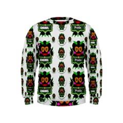 Monster Trolls In Fashion Shorts Kids  Sweatshirt by pepitasart