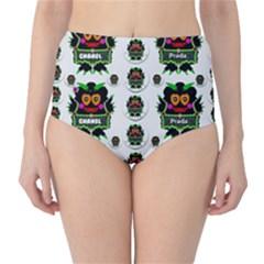 Monster Trolls In Fashion Shorts High Waist Bikini Bottoms by pepitasart