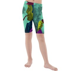 Sherlock Holmes Kid s Mid Length Swim Shorts by icarusismartdesigns