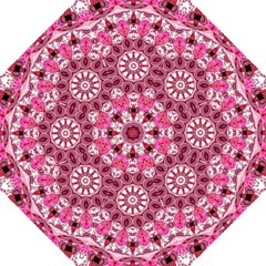 Twirling Pink, Abstract Candy Lace Jewels Mandala  Straight Umbrellas by DianeClancy