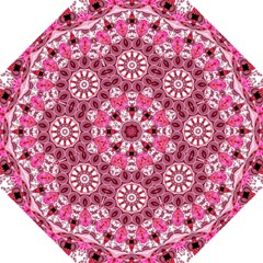 Twirling Pink, Abstract Candy Lace Jewels Mandala  Hook Handle Umbrellas (medium) by DianeClancy