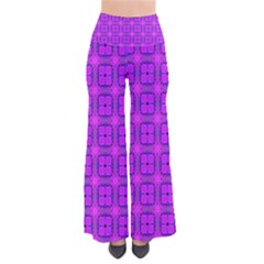 Abstract Dancing Diamonds Purple Violet Women s Chic Palazzo Pants by DianeClancy