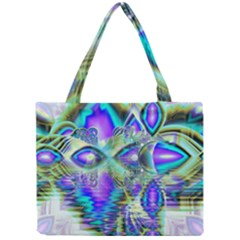 Abstract Peacock Celebration, Golden Violet Teal Mini Tote Bag by DianeClancy