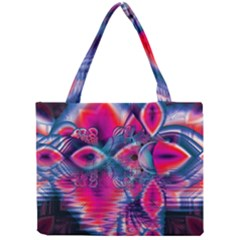 Cosmic Heart Of Fire, Abstract Crystal Palace Mini Tote Bag by DianeClancy