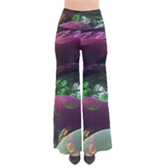 Creation Of The Rainbow Galaxy, Abstract Women s Chic Palazzo Pants by DianeClancy