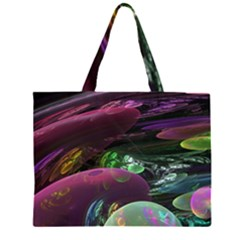 Creation Of The Rainbow Galaxy, Abstract Large Tote Bag by DianeClancy