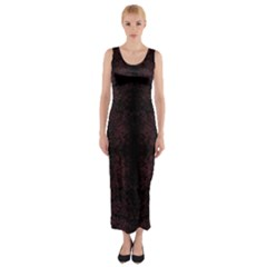SPOTTED Fitted Maxi Dress