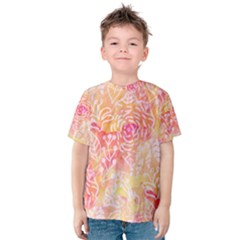 Sunny Floral Watercolor Kid s Cotton Tee by KirstenStar
