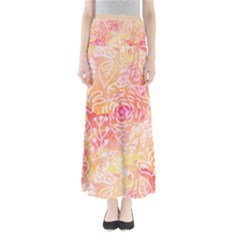 Sunny floral watercolor Maxi Skirts by KirstenStar