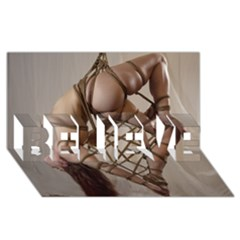Shibari King Of Diamonds Believe 3d Greeting Card (8x4)  by RumenBasheff