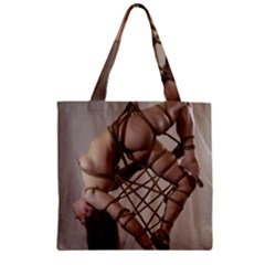 Shibari King Of Diamonds Zipper Grocery Tote Bag by RumenBasheff