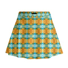 Dragonflies Summer Pattern Mini Flare Skirt by Costasonlineshop